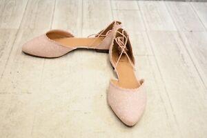 Jack-Rogers-Camille-Sparkle-Flats-Women-039-s-Size-10M-Light-Pink