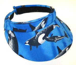 Tennis-Visor-Golf-Visor-Orca-Killer-Whale-Visor-Whale-Lovers-Gift-Idea