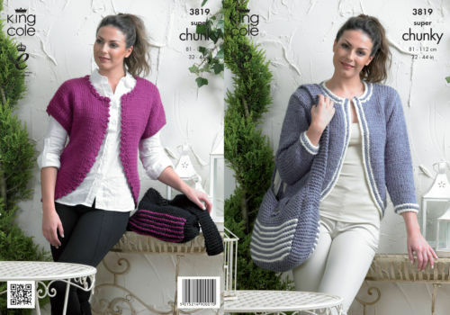 a3ed18308 Ladies Sweater   Cardigan for King Cole Riot DK Yarn Knitting Pattern 4680  for sale online