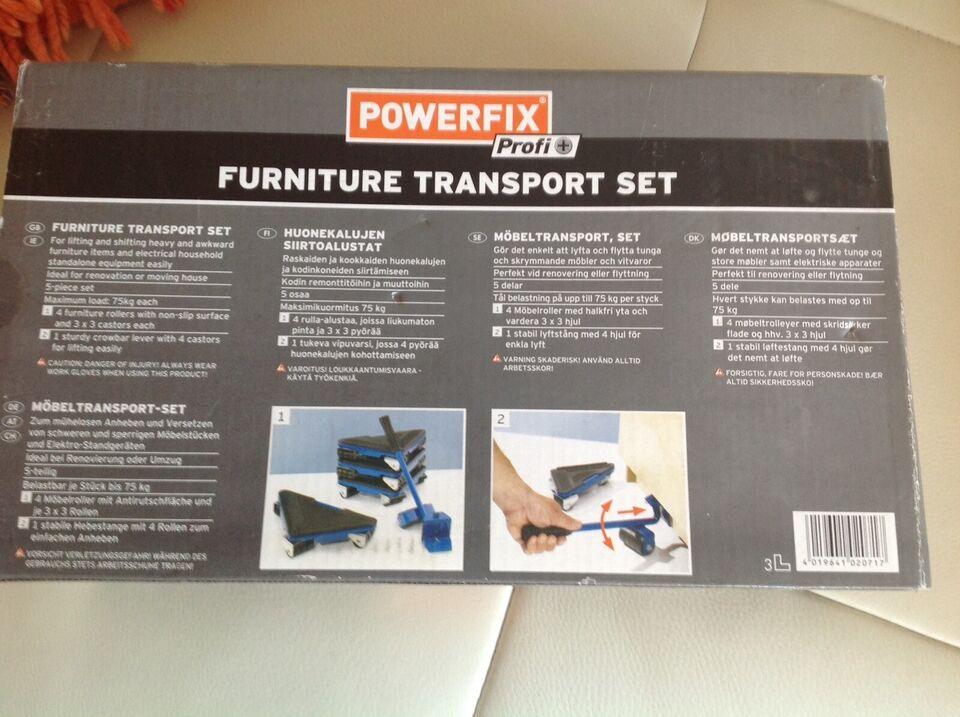 Transportsæt til flytning af tunge ting, Powerfix