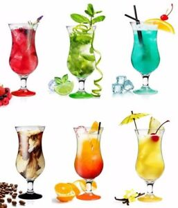 6x-Set-Fiesta-Hurricane-Pina-Colada-Cocktail-Glass-Large-16oz-460ml