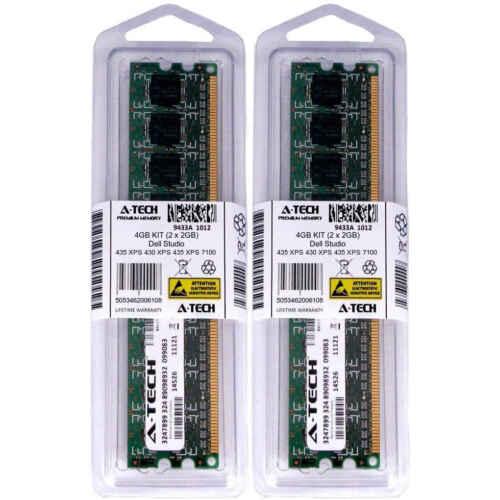 4GB KIT 2 x 2GB Dell Studio 435 XPS 430 435 7100 730x 8000 8100 Ram Memory