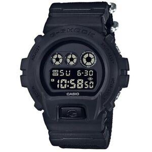 Casio-G-Shock-DW-6900BBN-1-Black-Cordura-Fabric-Strap-Mens-Digital-Watch