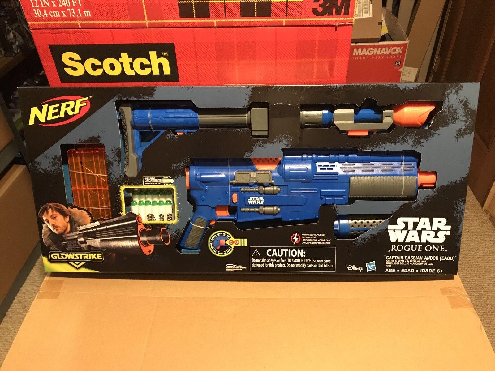 Star Wars ROGUE ONE Target Captain Cassian Andor Eadu GlowStrike NERF Blaster