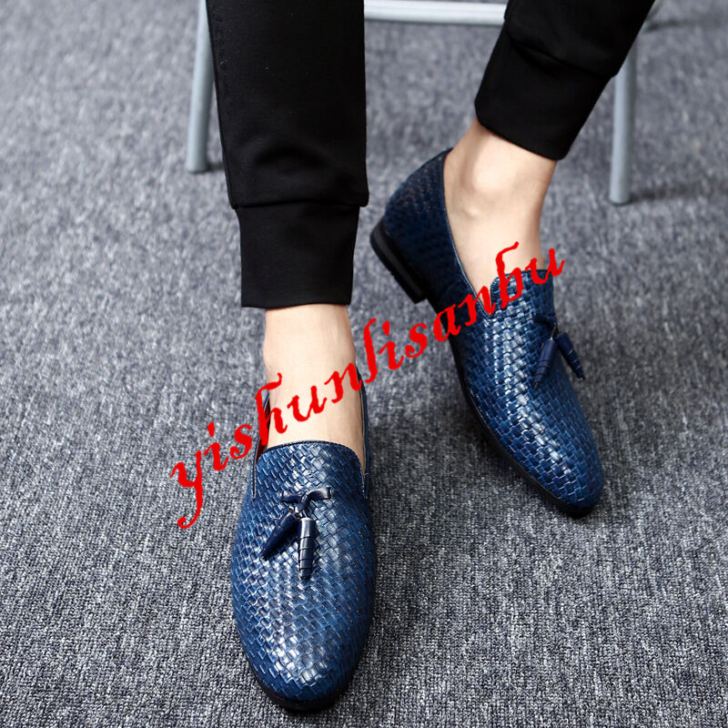 SZ37-48 Mens England Tassel Slip ON Loafers Casual shoes Comfy Driver shoes New