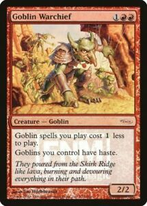 MTG-Goblin-Warchief-Friday-Night-Magic-DCI-FOIL-Promo-NM-Dominaria-Legal-SKU-91