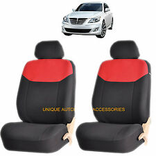 RED ELEGANT AIRBAG COMPATIBLE FRONT LOWBACK SEAT COVERS SET FOR ELANTRA ACCENT