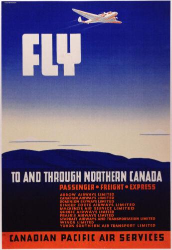 Decor Travel Poster.Fine Graphic Art Design.Northern Canada.Interior Design.744