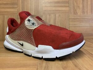 RARE-Nike-Sock-Dart-Gym-Red-White-Sz-8-819686-601-Men-039-s-Shoes-LE-Perf-Strap