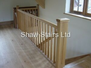 Landing Stairs Refurbishment Pack With Spindles Handrails