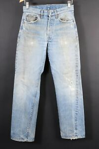 VTG LEVI'S 501 Button Fly Redline Selvedge #6 Denim Jeans USA Size 31x36 (28x32)
