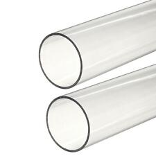 Clear Polycarbonate Round Tube 58 Od X 0063 Wall X 48 Long 2 Pack