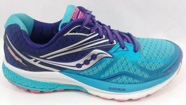 Details about Saucony Ride 8 Womens Running Shoes Sneakers Orange Blue Size 9