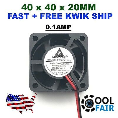 US 5x Brushless DC Cooling Fan 40x40x20mm 4020 5 blades 5V 2pin 2.54 Connector