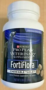 PURINA Pro Plan Veterinary FORTIFLORA Chewable 45 Tablets Dogs Supplement NEW!