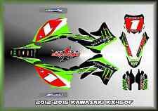 12-15 KAWASAKI KX450 KX 450F CUSTOM MUDFLAPS GRAPHIC KITS DECAL