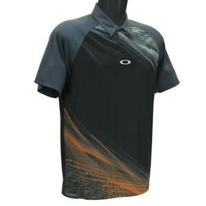 Oakley-Aero-Motion-Graphic-Polo-Mens-Size-S-Small-Blackout-Golf-Regular-Fit-Tee