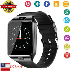 Bluetooth Wrist Smart Watch Mens Watch For Android Samsung