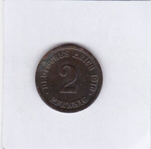 2-Pfennig-1916-F-Deutsches-Reich-German-Empire-seltener