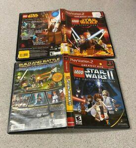 Star-Wars-1-Video-Game-amp-II-Original-Trilogy-GAME-LOT-PlayStation-2-PS2-GH-CIB