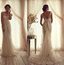 Neu Spitze Brautkleid Ballkleid Hochzeitskleid Brautkleider Gr 32 34 36 38 40 42