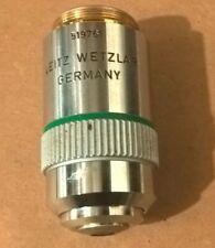 Leitz Wetzlar 25x Objective Ef 25050 160017 Microscope Lens Laborlux Mikros