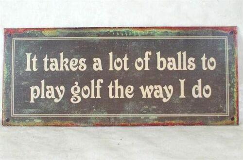 """Wandschild Türschild für Golfer /""""It takes a lot of .../"""""""