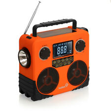 Weather Solar & Dynamo AM/FM/NOAA Radio, Bluetooth Stereo Speaker, Phone Charger