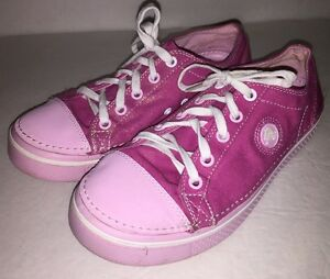 womens crocs shimmer canvas pink sneaker shoes size 6 ebay