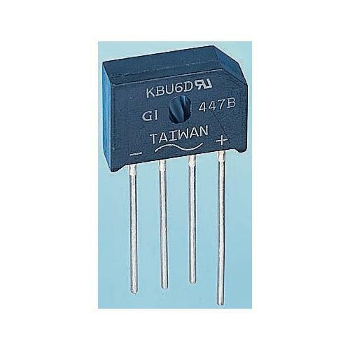 6A 600V 4-Pin GBU Bridge Rectifier 5 x Lite-On GBU606