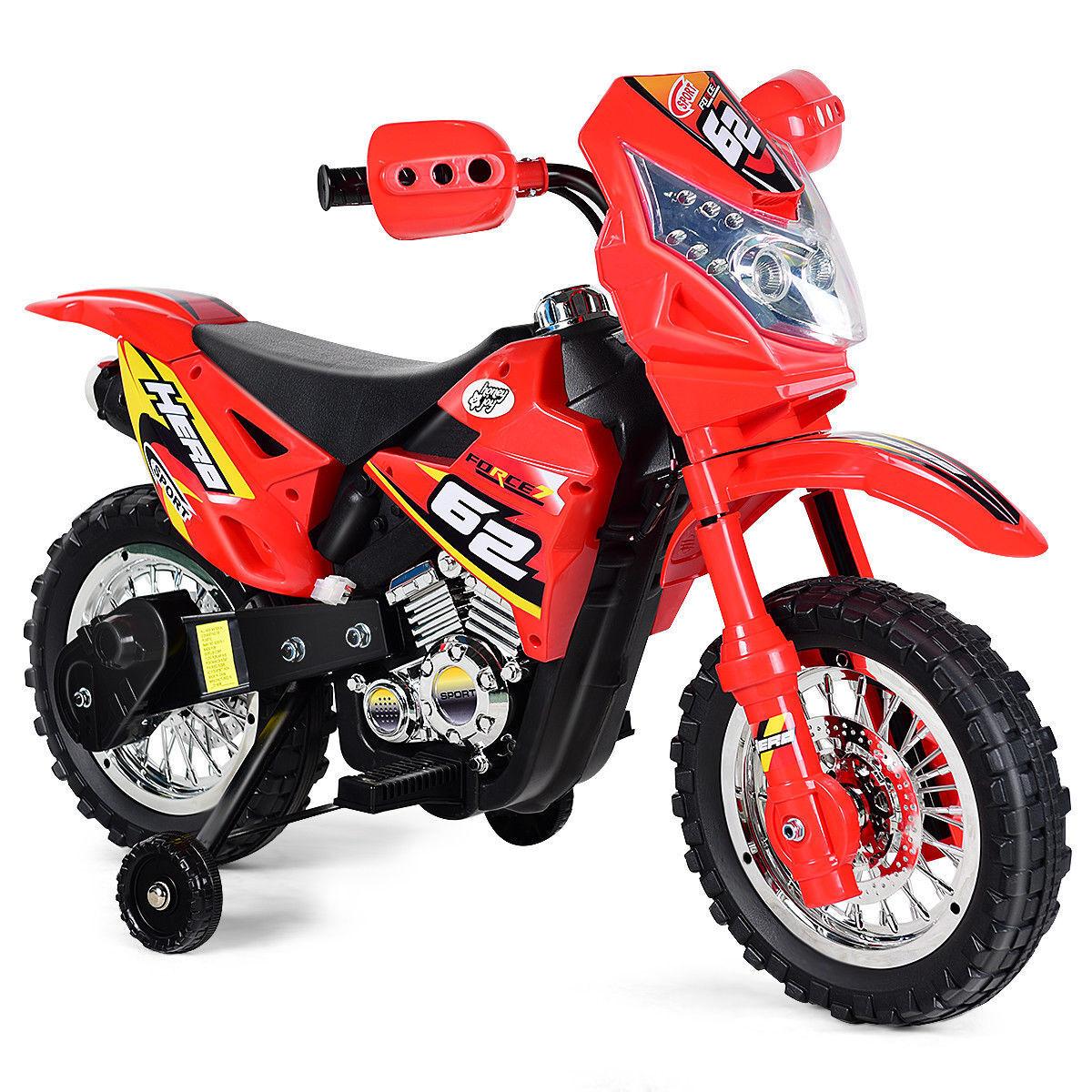 Kinder reiten auf motorrad 6v batteriebetriebene elektrische spielzeug neue rad mit weiterbildung