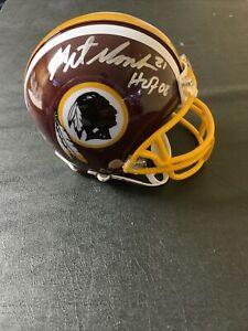 Art Monk Signed Licensed Redskins Mini Helmet HOF 08 Envoy Authentication