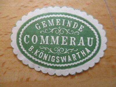 Diskret 21099 Fettiges Essen Zu Verdauen Gemeinde Commerau B Siegelmarke Königswartha Um Zu Helfen
