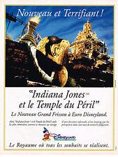 PUBLICITE ADVERTISING 025  1994  EURO DISNEYLAND  INDIANA JONES