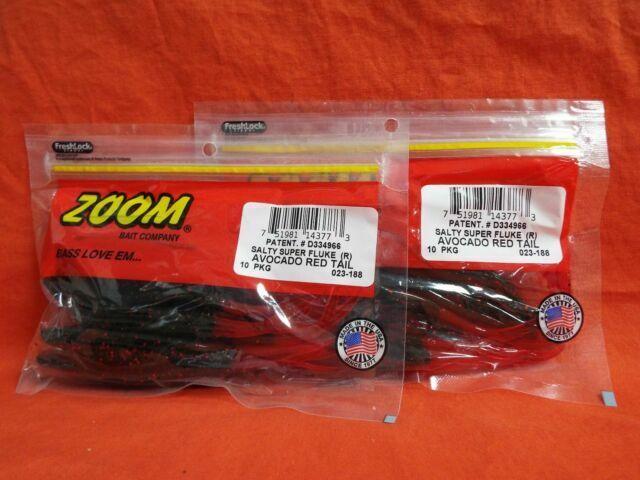 2 PCKS 10cnt #023-224 Bait Fish ZOOM Salty Super Fluke