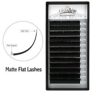 c173990367a Lashview 0.15mm C Individual Matte Ellipse Flat Eyelash Extensions ...