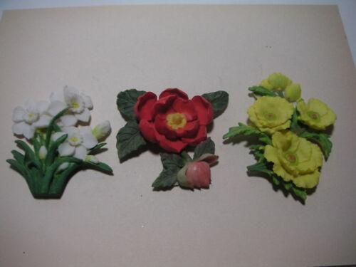 # 1998 set of 3 Magnet of Flower