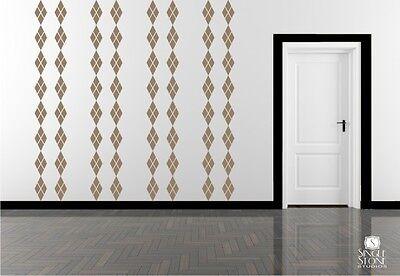 Argyle Pattern Wall Decals Vinyl Sticker Art