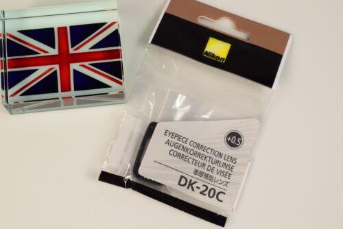 Genuine Nikon DK-20C Obiettivo OCULARE DI CORREZIONE 0.5 D40X D60 D80 D90 D100 D200