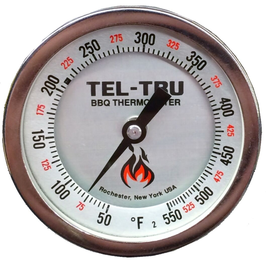 Tel-Tru BQ300R calibratable BBQ Grill & fumador termómetro 3  Dial vástago de 4