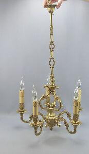 Lustre-en-bronze-de-style-LOUIS-XV-six-feux-44-x-78-cm-en-bon-etat