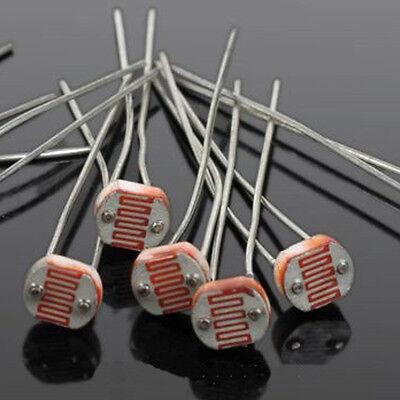20PCS GL5516 5516 Light Dependent Resistor LDR 5MM Photoresistor For Arduino