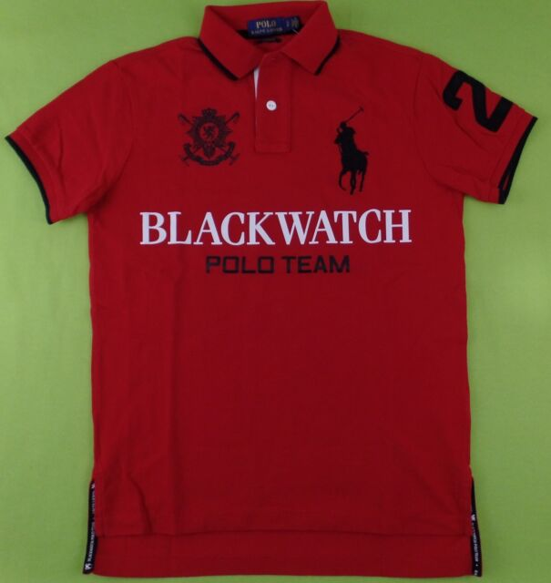 d2db27e1b Polo Ralph Lauren Men's BLACKWATCH Polo Shirt Big Pony Logo