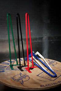 """Powder Coated Hairpin Legs Sold Individually /ALL SIZES & COLORS 1/2"""" Diameter"""