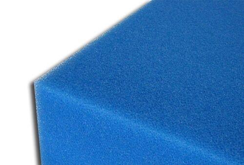 Filtermatte 50x50x10 cm fein blau PPI30 Filterschaum Filterschwamm
