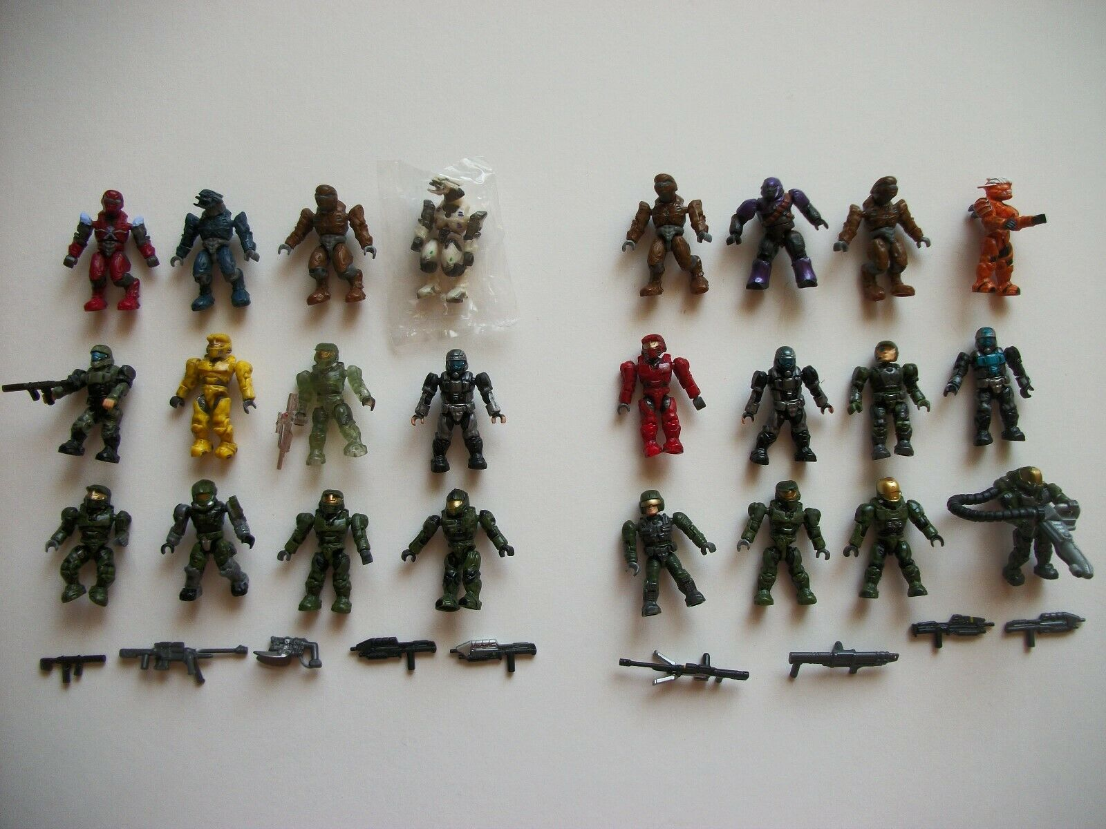 Mega Bloks Halo Figures and weapons