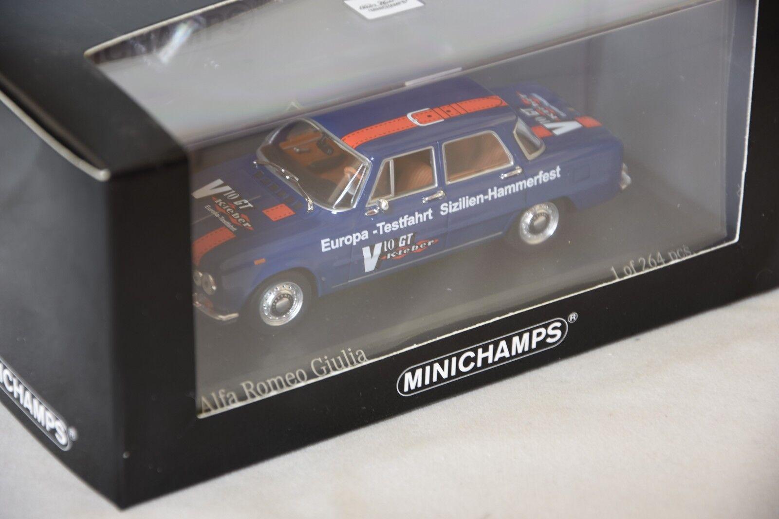 Minichamps 400120905 -  ALFA ROMEO GIULIA EUROPA TESTFAHRT HAMMERFEST 1970 1 43