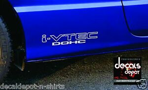 2-i-VTEC-DOHC-3x10-034-Vinyl-Sticker-Honda-Civic-Decal-Euro-Drift-illest-Emblem