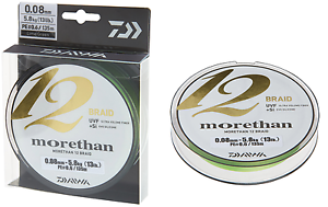 Daiwa Morethan 12 Braid 0,10mm 7,3kg 300m lime green Geflochtene Schnur