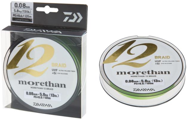 Daiwa Morethan 12 Braid 0,10mm 7,3 kg 300m LG Geflochtene Schnur